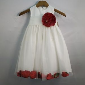 US ANGELS FLOWER GIRL PETAL DRESS IVORY STYLE 705